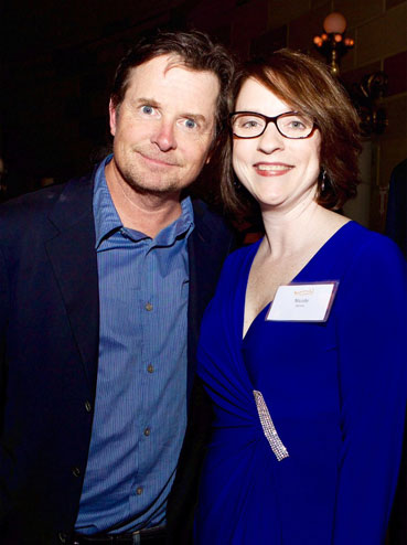 Nicole Jarvis and Michael J. Fox